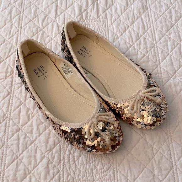 Gap Kids Rose Gold Flip Sequin Ballet Flat